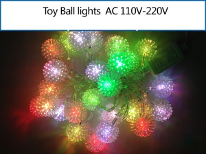 Toy Ball Shaped LED RGB Light String Decorative Light for Christmas Wedding Party etc