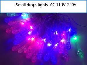 Small Drops LED Light String Decoration Light for Christmas Wedding Party etc