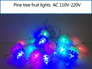 Pinecones Shaped LED Light String Decorative Lamp for Christmas Wedding Party etc