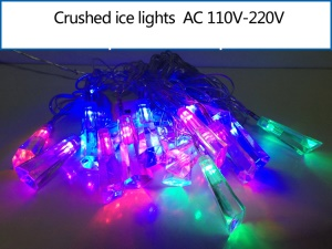 Crushed Ice Shaped LED Light String Decorative Lighting for Christmas Wedding Party etc