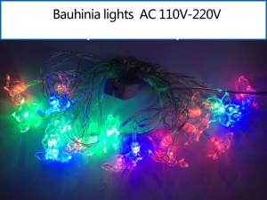 Multicolor Bauhinia Shaped LED Light String Lighting Decoration for Christmas Wedding Party etc