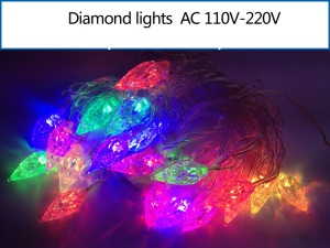 Multicolor Diamond Shaped LED Light String Lighting for Christmas Wedding Party Decoration