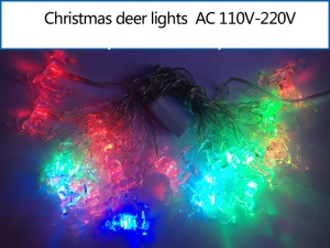 Multicolor Christmas Deer LED String Light Lighting for Xmas Wedding Party Decoration
