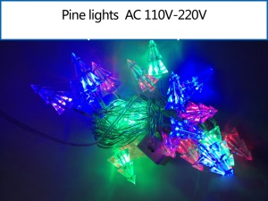 Multicolor Pine LED String Light Lighting for Xmas Wedding Party Decoration