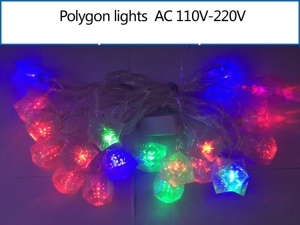Polygon LED String Light Decoration Lighting for Xmas Wedding Party etc