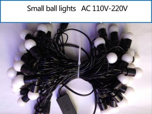 5M Dia.1.8cm Small Ball LED Light String Decoration Lighting for Xmas Wedding Party - White
