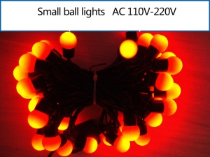 5M Dia.1.8cm Small Ball LED String Light Decoration Lighting for Xmas Wedding Party - Red