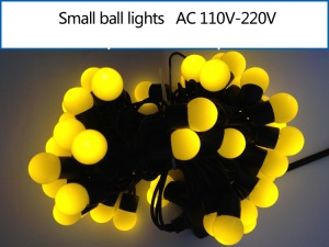 5M Dia.1.8cm Small Ball LED String Light Decoration Lighting for Xmas Wedding Party - Yellow