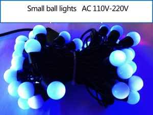 5M Dia.1.8cm Small Ball LED String Light Decoration Lighting for Xmas Wedding Party - Blue