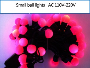 5M Dia.1.8cm Small Ball LED String Light Lighting for Xmas Wedding Party Decoration - Pink
