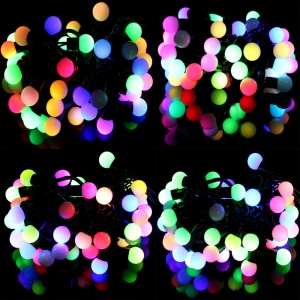 5M Dia.1.8cm Small Ball LED String Light Lighting for Xmas Wedding Party Decoration - RGB Color