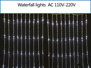 400PCS Leds LED Waterfall Light String Mesh Lighting Xmas Wedding Party Decoration 2m x 2m - White