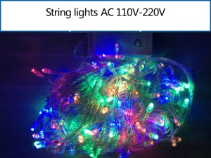 10M 100 LEDs Outdoor String Light Lamp for Garden Party Fairy Wedding Christmas - RGBY