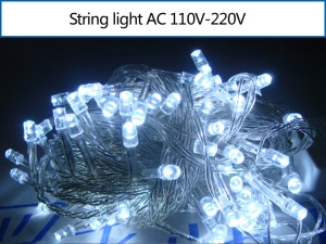 10M 100 LEDs Outdoor String Light for Garden Party Fairy Wedding Christmas - White