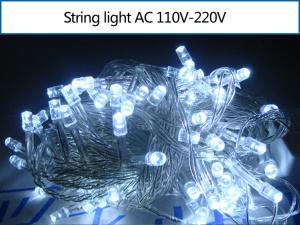 10M 100 LEDs Outdoor String Light for Garden Party Fairy Wedding Christmas - White