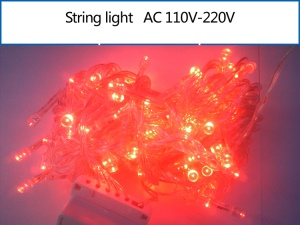 10M 100 LEDs String Light Lamp for Garden Party Fairy Wedding Christmas - Red