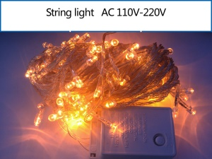 10M 100 LEDs Outdoor Garden String Light Lamp for Garden Party Fairy Wedding Christmas - Yellow