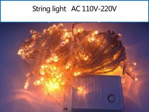 10M 100 LEDs Outdoor Garden String Light Lamp for Garden Party Fairy Wedding Christmas - Yellow