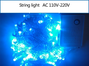 10M 100 LEDs Garden String Light Lamp for Garden Party Fairy Wedding Christmas - Blue
