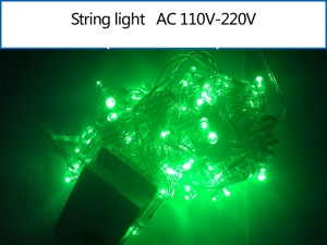 10M 100 LEDs Outdoor String Lamp for Garden Party Fairy Wedding Christmas - Green