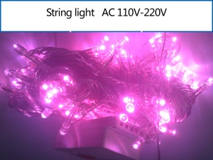 10M 100 LEDs Xmas String Lamp for Garden Party Fairy Wedding Christmas - Pink
