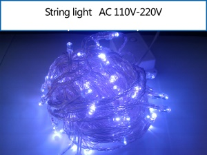 10M 100 LEDs Xmas String Light for Garden Party Fairy Wedding Christmas - Purple