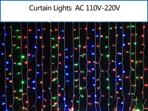 2M x 2M 400 LEDs Outdoor Christmas String Fairy Wedding Curtain Light - RGB