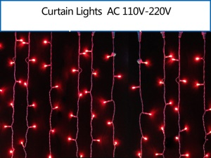 2M x 2M 400 LEDs Outdoor Christmas String Fairy Wedding Curtain Light Lamp - Red
