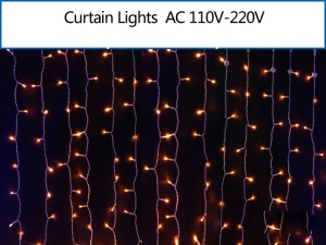 2M x 2M 400 LEDs Christmas String Fairy Wedding Curtain Light - Yellow