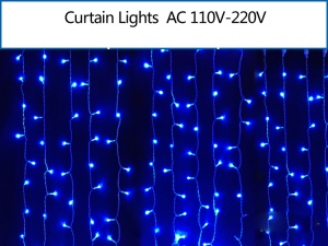 2M x 2M 400 LEDs Outdoor Christmas Xmas String Fairy Wedding Curtain Light - Blue