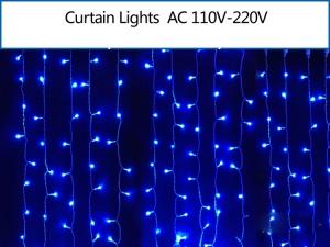 2M x 2M 400 LEDs Outdoor Christmas Xmas String Fairy Wedding Curtain Light - Blue