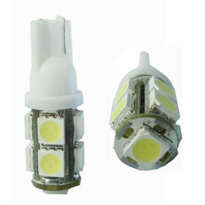 Durable T10 5050 8+1 LED Car Bulbs Turning Reading Light(Package included 2 pcs)