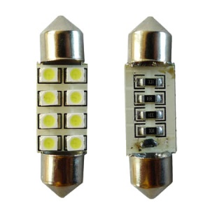 12V 36MM 8SMD LED Car Vehicle Lamp Bulbs Door License Plate Lights(Package included 2 pcs)