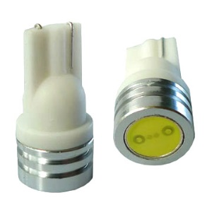 T10 1W 12V White Wedge LED Car Bulbs for Turning Dome Reading Lights and Etc(Package included 2 pcs)