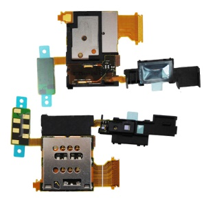 SIM Card Holder Slot Flex Ribbon Cable for Sony Xperia ion LTE LT28i Replacement