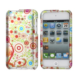 Multi-Circle Design Snap-on Hard Plastic Case Cover for iPod Touch 4