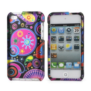 Colorful Flower Ribbon 2 in 1 Snap-On Hard Case for iPod Touch 4