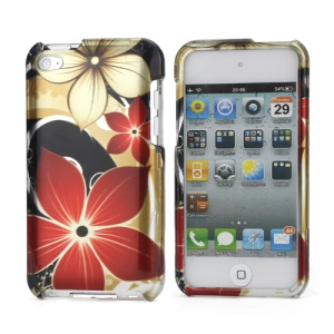 2 in 1 Snap-on Hard Protective Case for iPod Touch 4 Beautiful Flower Pattern