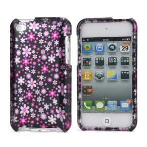 Flower Pattern Snap-on Protective iPod Touch 4 Hard Case