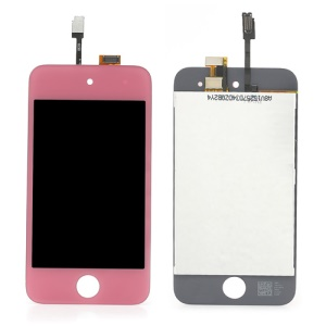 Pink LCD Assembly with Touch Screen Digitizer Replacement for iPod Touch 4 4th 4G
