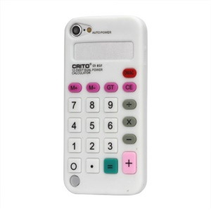 3D Calculator Silicone Cover Case for iPod Touch 5 - White