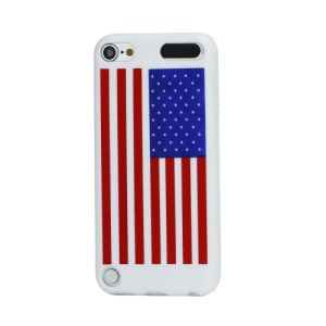 American USA National Flag Soft Silicone Case Cover for iPod Touch 5