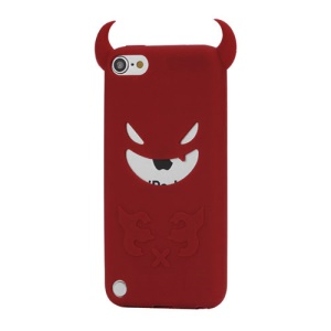 New Devil Face Soft Silicone Skin Case Cover for iPod Touch 5 - Red