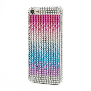 Rainbow Bling Rhinestone Crystal Hard Case Cover for iPod Touch 5