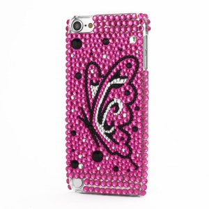 Bling iPod Touch 5 Luxury 3D Swarovski Crystal Diamond Butterfly Rose Case Cover