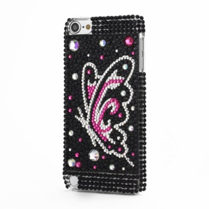 Elegent Butterfly Swarovski 3D Diamante Crystal Shell Cover for iPod Touch 5