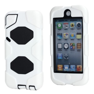 New Survivor Impact Hybrid Hard Case for iPod Touch 5 with Screen Protector - Black / White