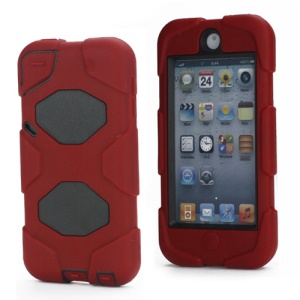 New Survivor Impact Hybrid Hard Case for iPod Touch 5 with Screen Protector - Black / Red