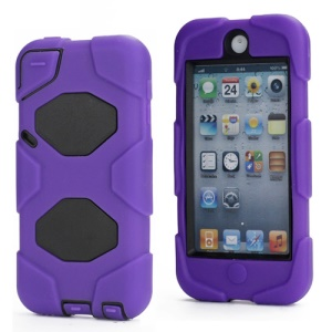 New Survivor Impact Hybrid Hard Case for iPod Touch 5 with Screen Protector - Black / Purple