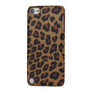 Leopard Skin Leather Coated Hard Case for iPod Touch 5 - Brown